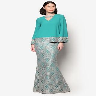 gambar model baju kurung batik terbaru