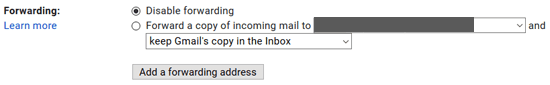 Gmail Disable Email Forwarding