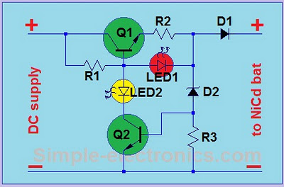 Simple Ni-Cd charger schematic