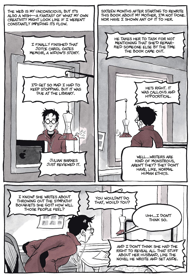 Page 28, Chapter 2: Transitional Objects from Alison Bechdel's graphic novel Are You My Mother