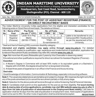 IMU Recruitment 2020 Apply 04 Faculty, Instructor, Consultant Vacancies