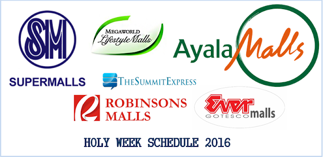 SM, other major malls Holy Week 2016 schedule released