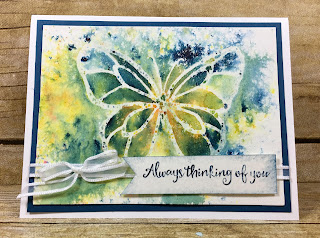 "Shop Online for Stampin' Up!.  You can purchase all you need to make this awesome card from my online store!  I used Stampin' Up!'s Beautiful Day Stamp Set, Brusho, Stampin' Spritzer, Heat Tool, Clear Embossing Powder, VersaMark Pad, Whisper White 1/4"" Organza Ribbon, and the Celebrate You Thinlits.  Video on blog!  #stamptherapist #stampinup www.stamptherapist.com"