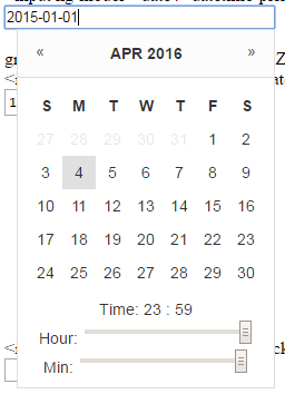 AngularJS DateTime Picker Without JQuery and Bootstrap With Time