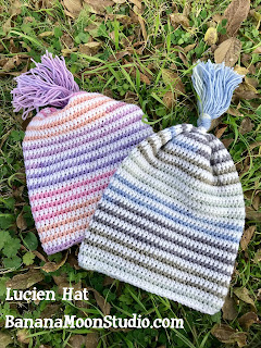 Crochet slouchy hat, Lucien Hat, by April Garwood of Banana Moon Studio