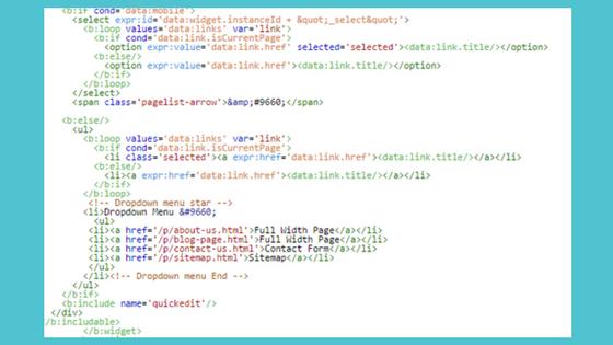 Menambahkan Dropdown Menu Pada Widget PageList Blogspot