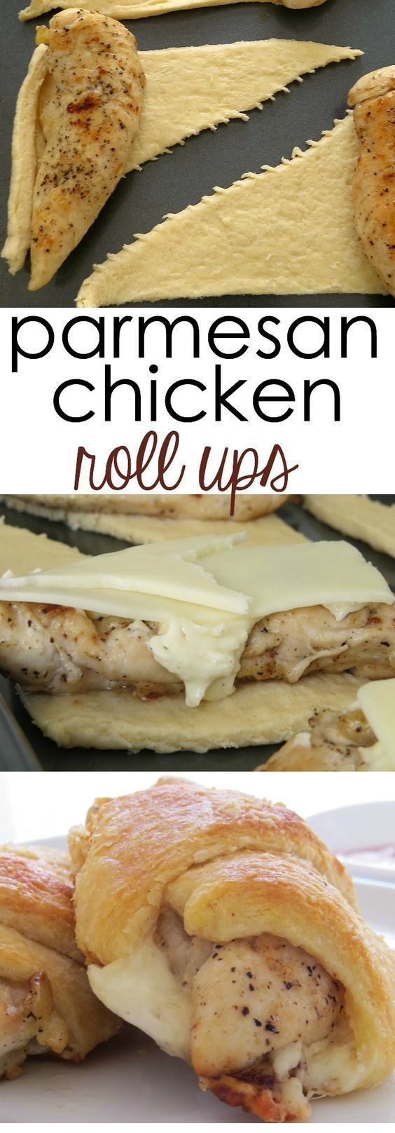 CHICKEN RECIPES | Parmesan Chicken Roll Ups