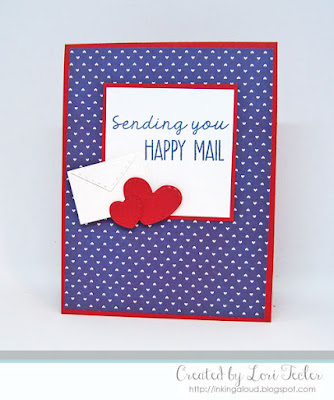 Sending You Happy Mail card-designed by Lori Tecler/Inking Aloud-stamps and dies from Lil' Inker Designs