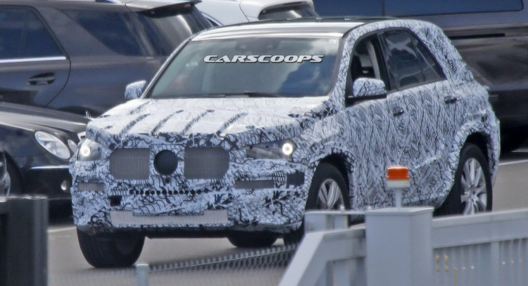 Next-Gen 2019 Mercedes-Benz GLE Spied For The First Time