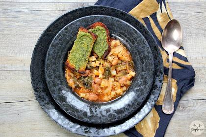 Minestrone au pesto, recette express avec auto-cuiseur