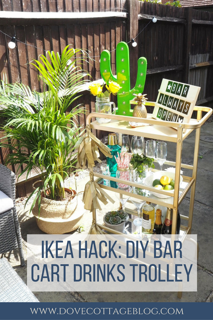 ikea hack diy bar cart drinks trolley dove cottage. Black Bedroom Furniture Sets. Home Design Ideas