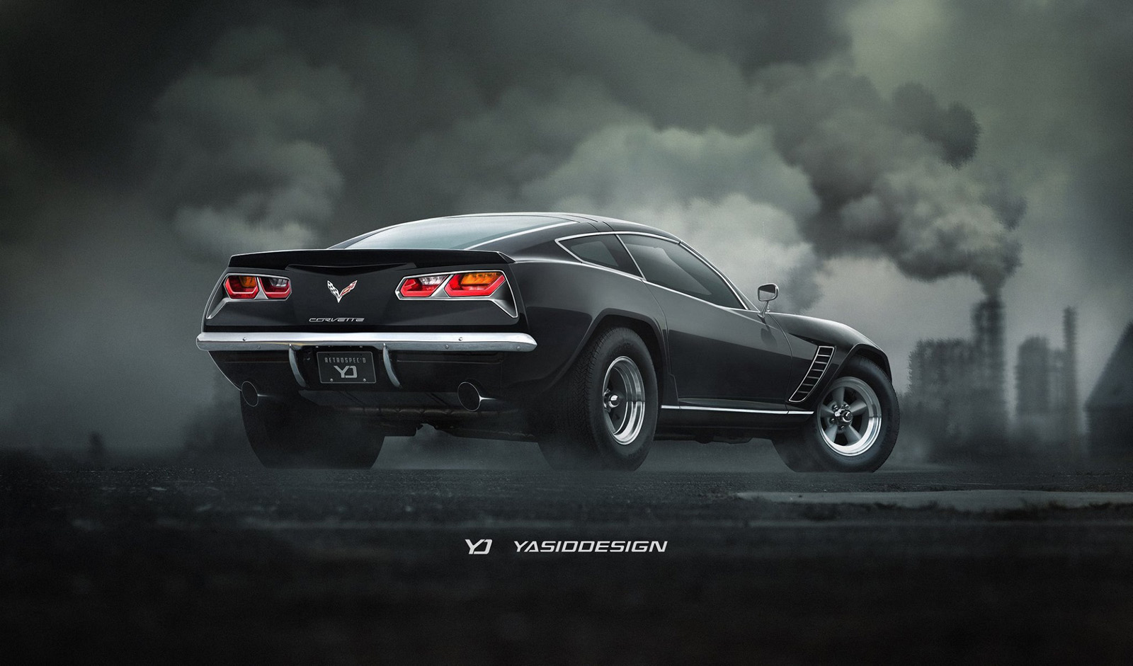 What Would It Look Like If The Corvette C7 Went Old-School? | Carscoops
