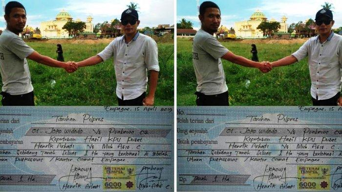 Dua Pria Pendukung Jokowi dan Prabowo Tahuran 1 Hektar Tanah Dalam PilPres