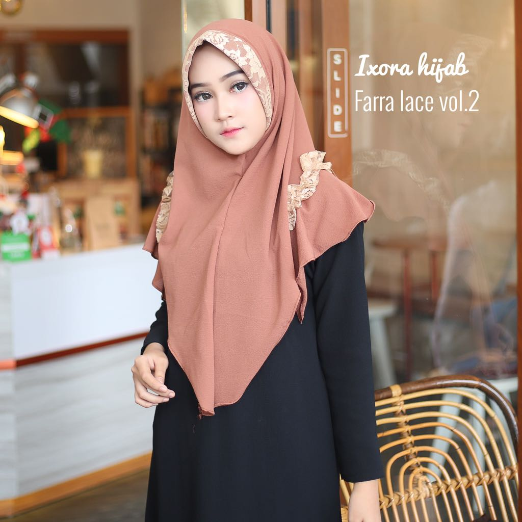 Farra Lace Vol 2 By Ixora Hijab Melody Fashion Dress Wanita