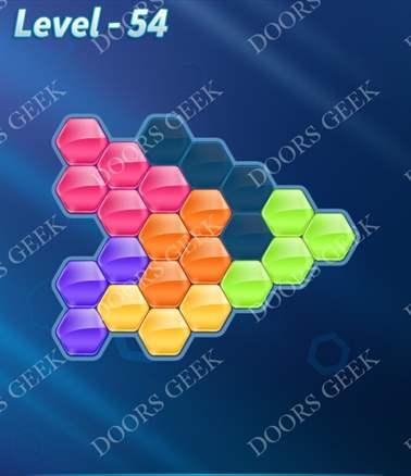 Block! Hexa Puzzle [Intermediate] Level 54 Solution, Cheats, Walkthrough for android, iphone, ipad, ipod