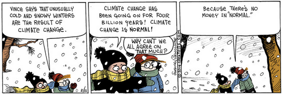 Comic strip about global warming