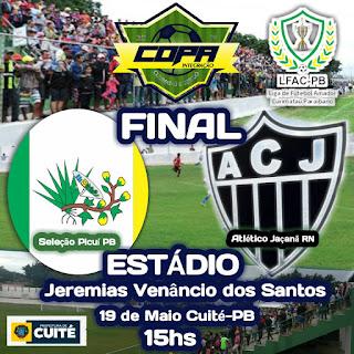Domingo (19) acontece a Grande final da Copa Integração do Seridó é Curimataú 2019