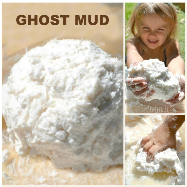 How to make GHOST MUD - a must try activity for kids!
