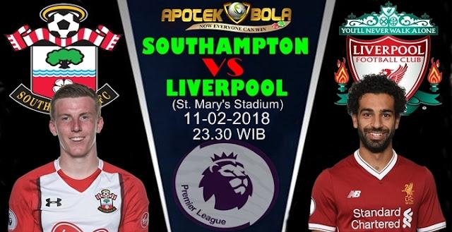 Prediksi Southampton vs Liverpool 10 Februari 2018