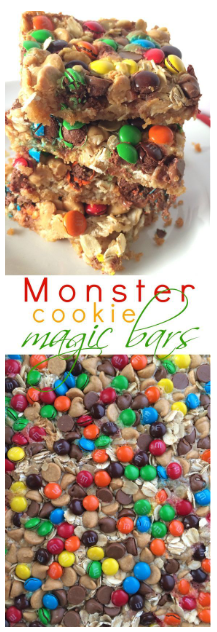 MONSTER COOKIE MAGIC BARS