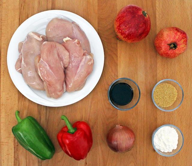 Γλυκόξινο Κοτόπουλο με Σάλτσα Ροδιού / Sweet and Sour Chicken with Pomegranate sauce