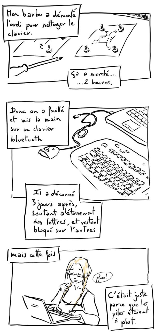 défaillance de clavier et galère informatique