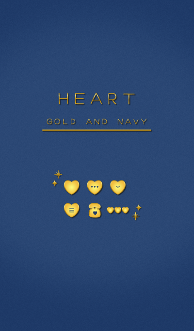 HEART GOLD AND NAVY