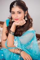 Marathi Actress Priyanka Jawalkar Sizzles In stunning Blue Half Saree ~ Exclusive 005.jpg