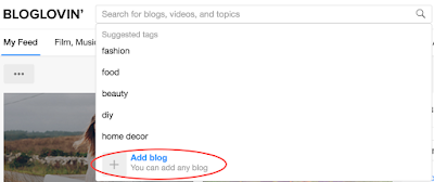 Add blog on Bloglovin'