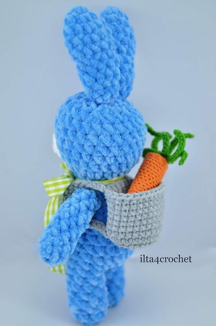 wielkanoc, królik, szydełko, handmade, marchewka, crochet bunn