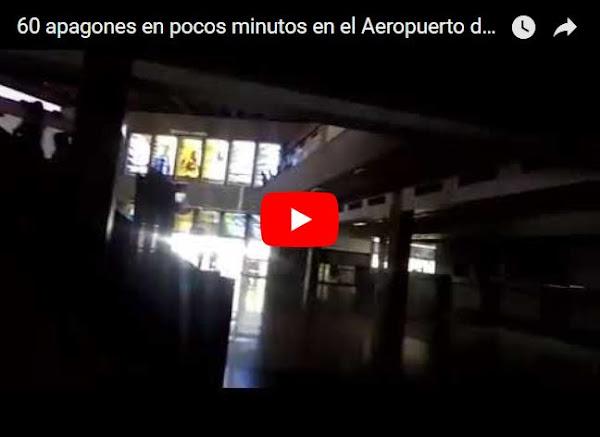 60 apagones en pocos minutos en el Aeropuerto de La Chinita en Maracaibo