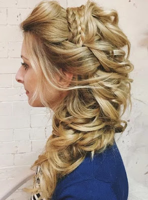 Half-Updo with a Braided Headband