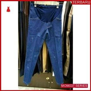 MOM037C12 Celana Hamil Jeans Robek Model Celanahamil Ibu Hamil