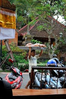 Delivering the Babi Guling