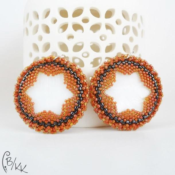 kolczyki peyote gwiazdki | peyote star earrings