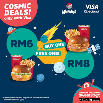 SweetSpot Malaysia Wendy's Buy 1 Free 1 Visa Checkout Promo