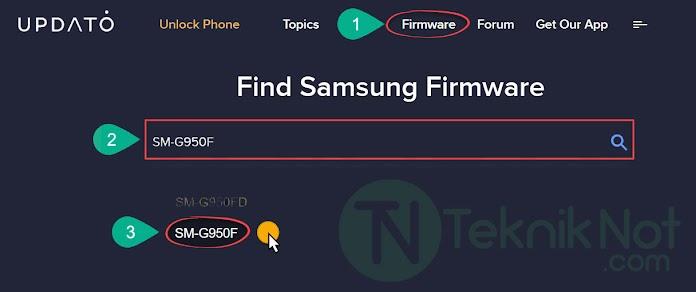 UPDATO'dan Samsung Stock ROM indirme Rehberi