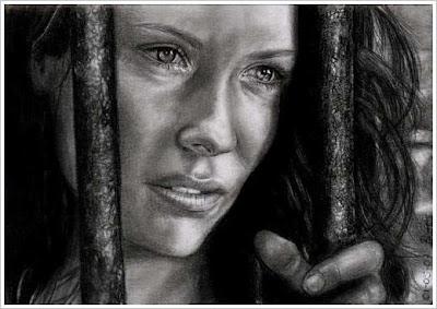Retrato o imagen a lápiz de Evangeline lilly de Lost