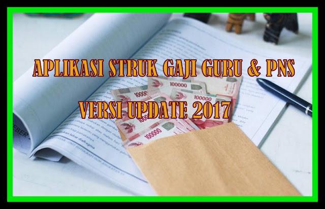 Aplikasi Struk Gaji Guru & PNS Versi Update 2017