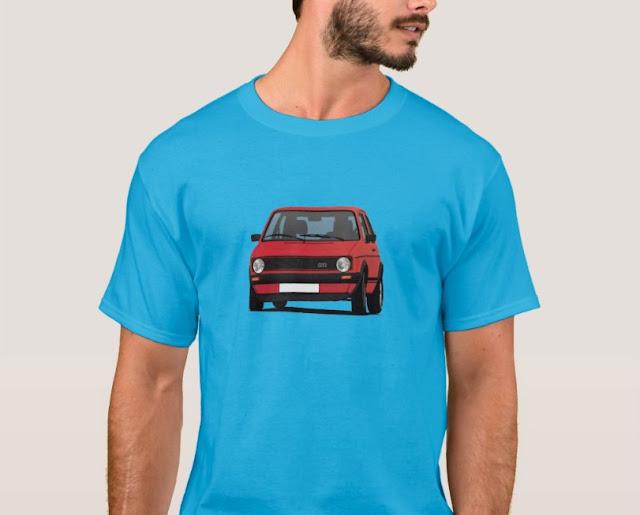Classic car  t-shirt - Golf or Rabbit GTI - hot hatch