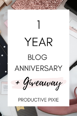 1 Year Blogiversary + Giveaway!