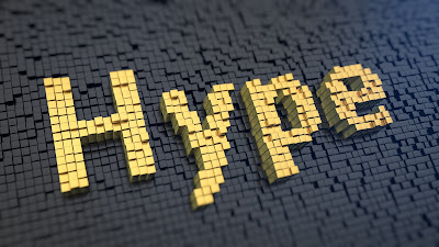 PIc of yellow bricks spelling out the word HYPE against black brick background