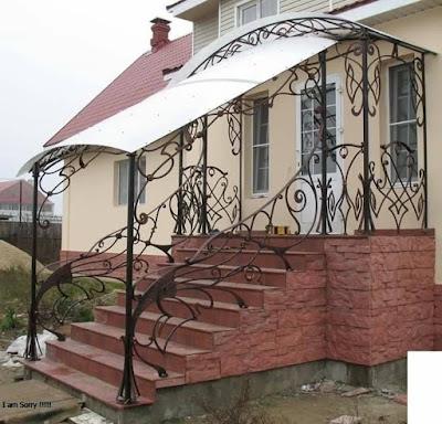 railing besi tempa adalah rumah mewah