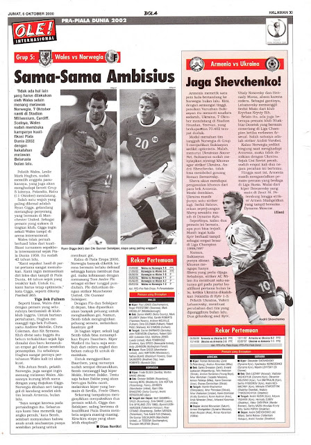 WALES VS NORWEGIA SAMA-SAMA AMBISIUS