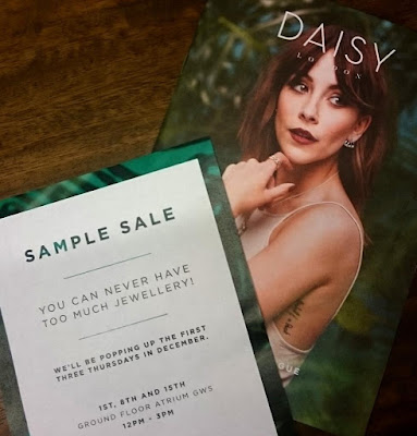 Daisy London Pop Up Sample Sale December 2016 - Jewellery Sample Sale