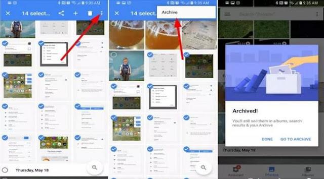 Tips menyembunyikan Foto/Video di Google Foto pada Android