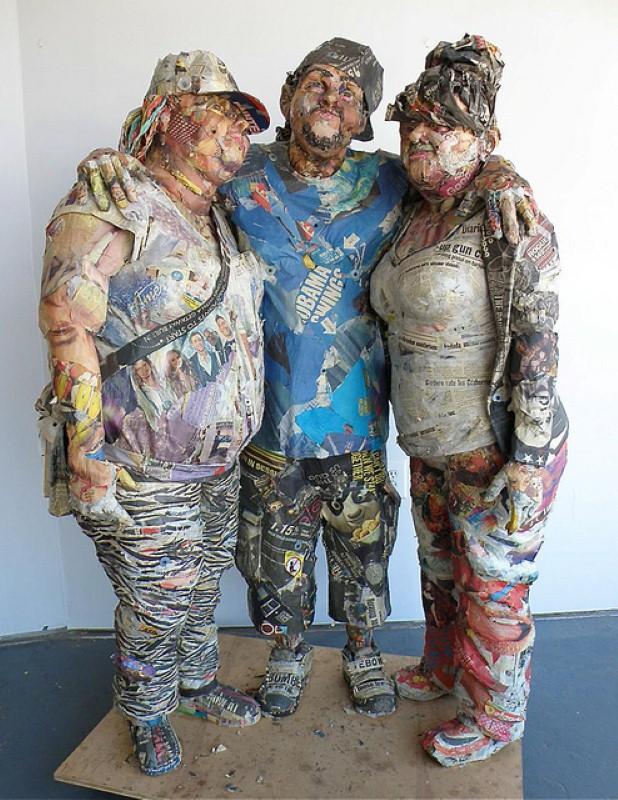 Скульптуры из мусора Уилла Курца 13