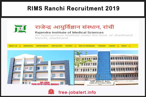 RIMS Ranchi Recruitment 2019: Rajendra Institute of Medical Sciences has sought applications for recruitment to staff nurse posts