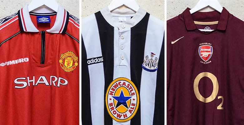 10 Best Premier League Kits In History By Classic Football Shirts