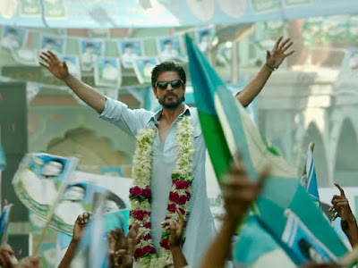 SRK as raees alam with a politician style
